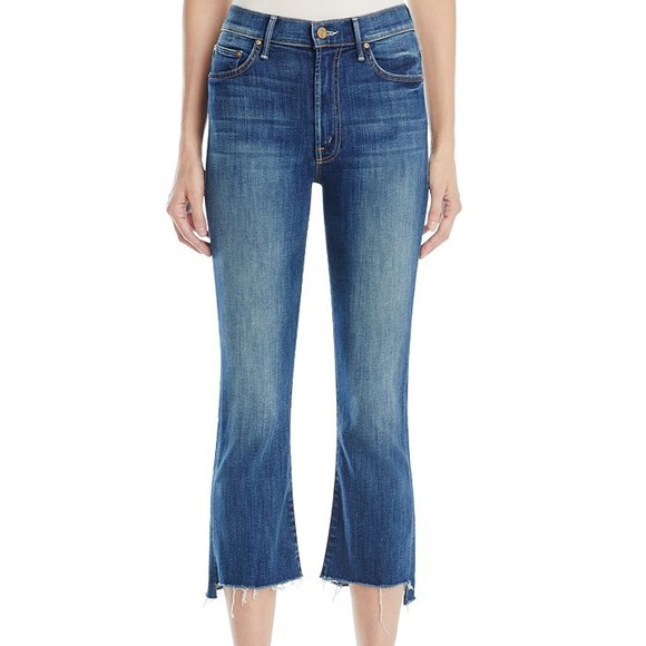 MOTHER Denim - Mother high rise insider crop step fray jeans!